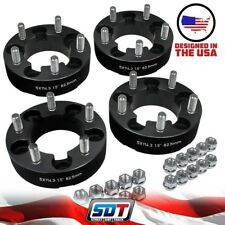 "(4) 1.5"" Inch Dodge Dakota Ford Explorer Ranger Bronco 5x4.5 Wheel Spacers Black"