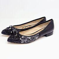 Sam Edelman Lilly Ballet Flats Womens Size 5.5 M Black Tweed Glitter Pointed Toe