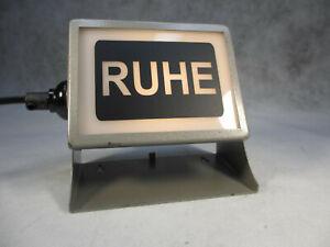 RUHE 60er Jahre Lampe Antik Wandlampe Tischlampe Industrie Design Studiolampe