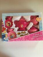 Disney Toy Pretend Princess Girls Tea Set 11 Piece Set Service for Two Pink