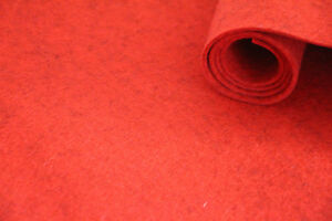Filzplatte 30x50cm, 100% Merino-Wollfilz, tomate-meliert, 2mm,