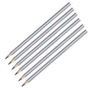6x Bleistift Bleistifte Set Härtegrad HB Zeichenbleistifte Bleistiftset Dreikant
