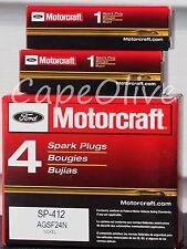6 PCS – Motorcraft SP-412 Original Equipment Nickel Spark Plugs (AGSF24N) Ford