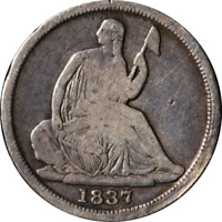 1837 Seated Liberty Half Dime - No Stars Great Deals From The Executive Coin Com