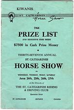 1964 St. Catharines Riding & Driving Club 37th Annual Horse Show Program meac12