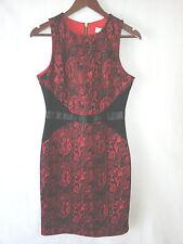 New MICHAEL KORS sleeveless dress-sz 4-snake print-faux leather waist-$200