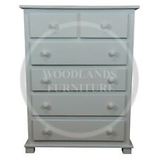 HANDMADE FLORIDA 2+ 4 CHEST OF DRAWERS IN WHITE  (ASSEMBLED)