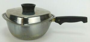 """Vintage West Bend Aristo-Craft Square 8"""" Stainless Steel Sauce Pan w/Lid 18-8"""