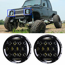 LED Headlight For Suzuki Samurai SJ410 7inch Round H4 H13 DRL Lights 2Pcs Hi/Lo