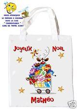 sac shopping noël sac à commissions sac à cadeaux joyeux noel réf 208