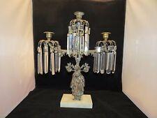 Antique 1840's Brass Three Light Sultana Girandole Candelabra by Dietz Bros NY