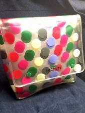 90's Rare 🐊LACOSTE Polkadot Transparent Cosmetic Case Bag NEW Condition!