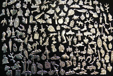 Mexican Milagros Charms Silver Color Lot of 100 Assorted