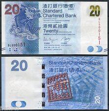 HONG KONG SCB Standard Chartered Bank 20 dollars 2012 Pick new SC /  UNC