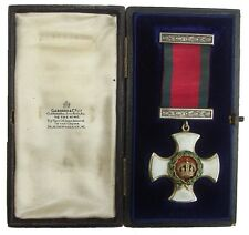 WW1 BRITISH DISTINGUISHED SERVICE ORDER G.V.R MEDAL IN CASE ORIGINAL