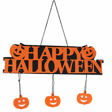 Halloween Pumpkin Pendant Door Decor Hanging Party Decoration Halloween Banner H