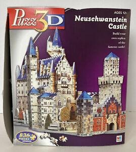 MB Games Puzz 3D Neuschwanstein Castle 836 Piece Jigsaw Puzzle - Complete!