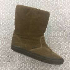 Vans Brown Suede Boots Size 8.5 Men's 10 Women's Slip On Mid Calf Shoes S110