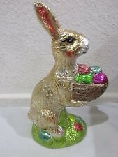 Easter Faux Chocolate Foil Gold Bunny Rabbit with Egg Decoration Decor 8""