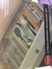 New listing 2-Piece Copco Kitchen Drawer Flatware Silverware Organizer Set Custom Fit Soft