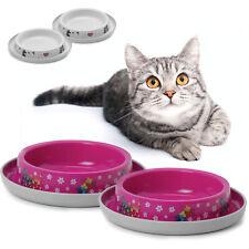 2 x Cat Trendy Non Slip Bowl 0.2L Food Water Dish Feeding Kitten Dog Rabbit Pet