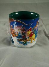 DISNEY 1995 holiday Christmas at our house Winnie the Pooh  Tigger mug vintage