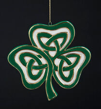 KURT ADLER HANDPAINTED PORCELAIN IRISH 3 LEAF CLOVER SHAMROCK CHRISTMAS ORNAMENT