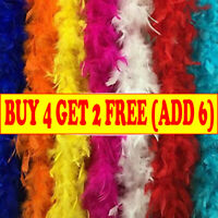 2M Feather Boa Strip Fluffy Craft Costume Fancy Dress Wedding Party Hen Night MN