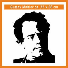 GUSTAV MAHLER Wandtatoo, ca. 35 x 28 cm, Hochleistungsfolie mit Montagepapier