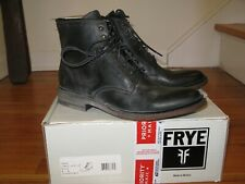 Frye James Lace Up Boot Women's 8 Black Leather