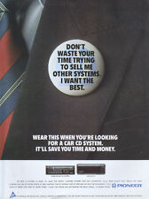 Pioneer Car CD System 1991 Magazine Advert #3859