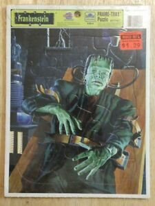 Universal Monsters Frankenstein Golden Tray Puzzle - NEW