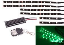 6PC Green LED Car Motorcycle Chopper Frame Glow Lights Flexible Neon Strips Kit