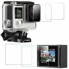 4 Pack Screen Protector for GoPro Hero 4 Black/Silver (2x Screen and 2x Lens)