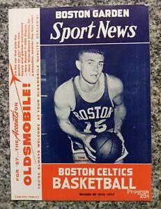 1957 NBA Sport News Boston Celtics Program Tommy Heinsohn cover Russell ◇ROOKIE◇
