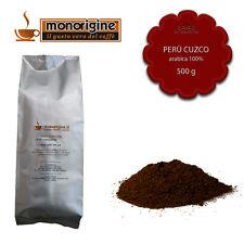 Caffè Arabica macinato fresco per espresso Perù Cuzco HB 500 gr