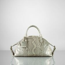 Ralph Lauren Purple Label Champagne Python Boston Bag Satchel New $3950
