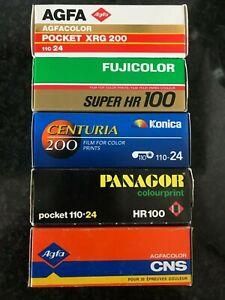 5x 110mm film lot fuji agfa Konica Panagor pocket lomography expired film