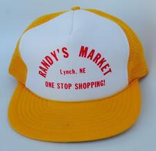 """RANDY'S MARKET"" ""Lynch NE"" ""ONE STOP SHOPPING!"" One Size Fit All Baseball Cap"