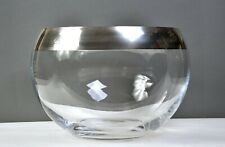 DOROTHY THORPE Style Vintage PUNCH BOWL Roly Poly Wide Silver Band EX+