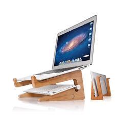Support Bureau En Bois Pour Ordinateur Portable Macbook Tablette Pc