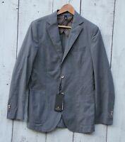 MASSIMO DUTTI Men's Sz 38R NEW Cotton Unlined Slim Blazer Jacket GRAY COLOR