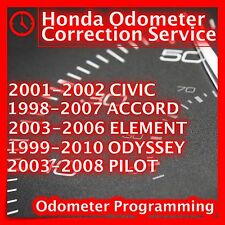 ODOMETER CORRECTION SERVICE Honda Pilot Civic Accord Element Odyssey CLUSTER