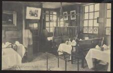Postcard LONDON ENGLAND Ye Olde Cheshire Cheese Restaurant Interior view 1920's?
