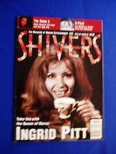 Shivers Magazine Issue 32 Ingrid Pitt cover, X Files, The Crow 2, Boris Karloff.
