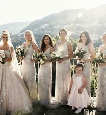 Phase Eight Aurora Cowl Sequin Lace Drape Trail Bridal Wedding Dress UK 8 to 18