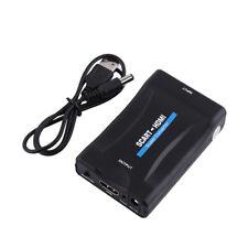 Scart zu HDMI Audio Video Konverter Scaler Adapter 720P 1080P mit USB Kabel