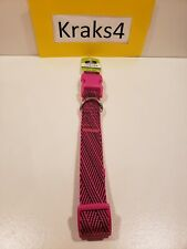 Top Paw® Woven Pink/Black Adjustable Dog Collar Size Large
