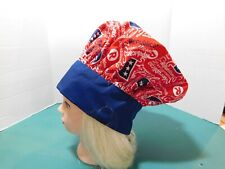 """Republican"" Chef/Baker Hat Cotton Blend Adjustable Velcro® Closure red white b"