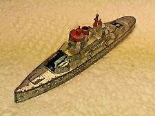 "Vintage 1940s Tootsietoy Die-cast Battleship 6 1/4"""